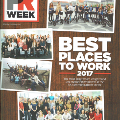 Dynamo wins Gold for PRWeek's Best Places to Work